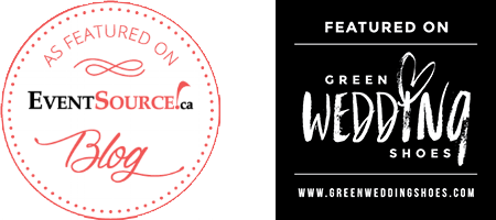Featured on Green Wedding Shoes & EventSource.ca